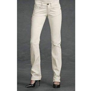 Women's - CAbi Brando Cream Corduroy Jeans, Size 2